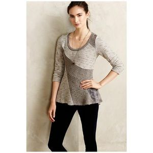 Anthropologie • leta mixed media sweater
